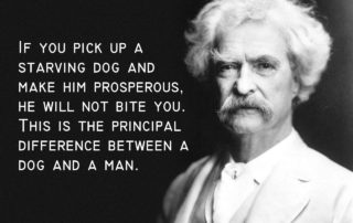 Mark Twain Quotes About Dogs