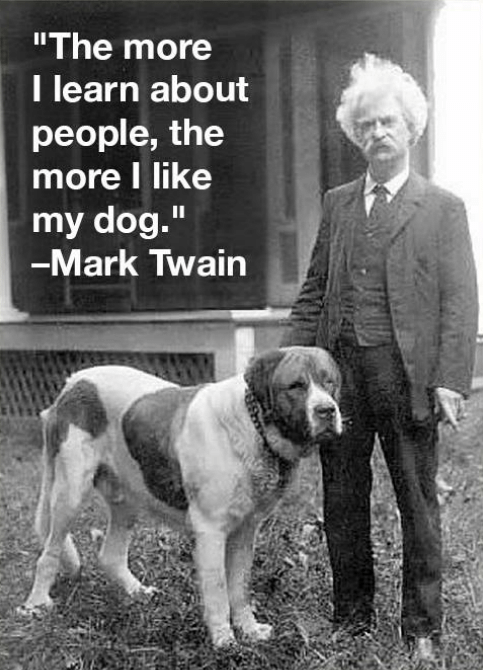 Mark Twain Quotes About Dogs - White Swiss Shepherds