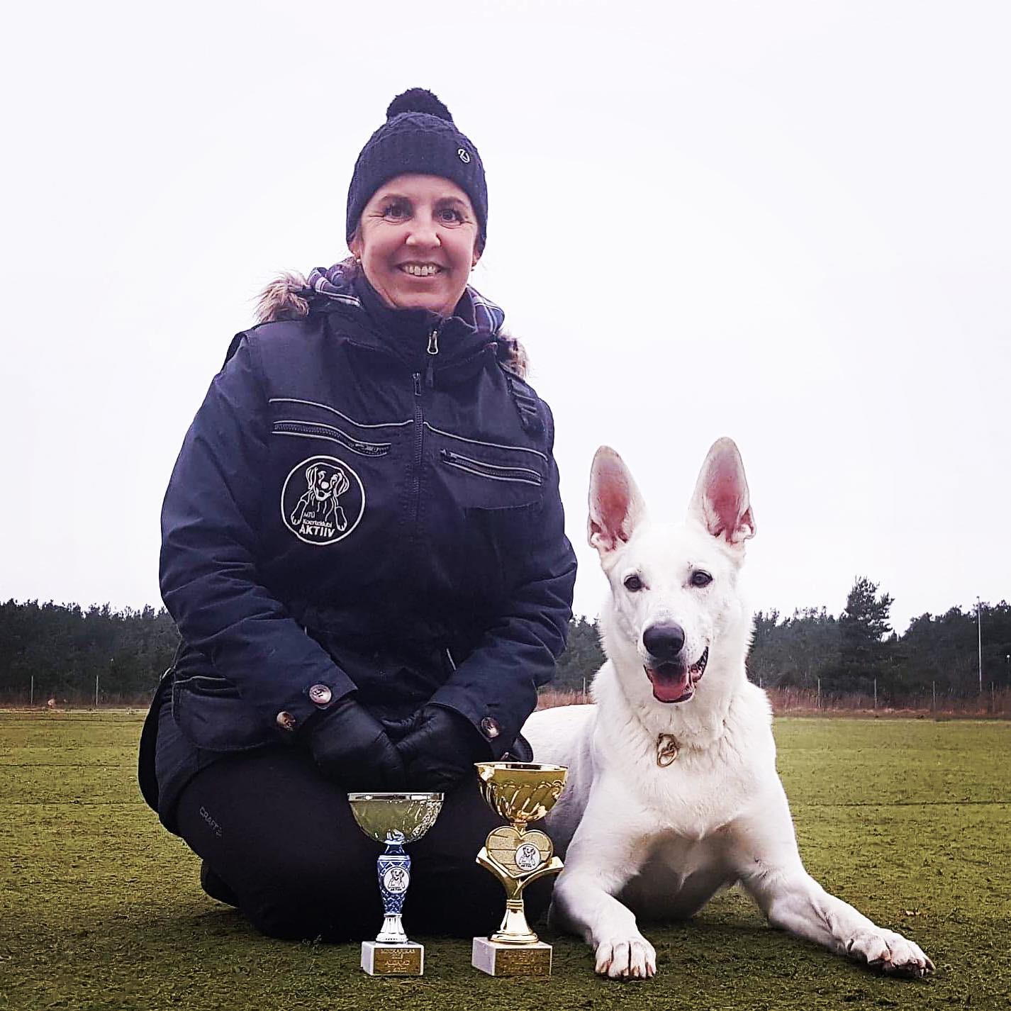 White Shepherd Born to Win White Caitkeeper Successful Competition Dog